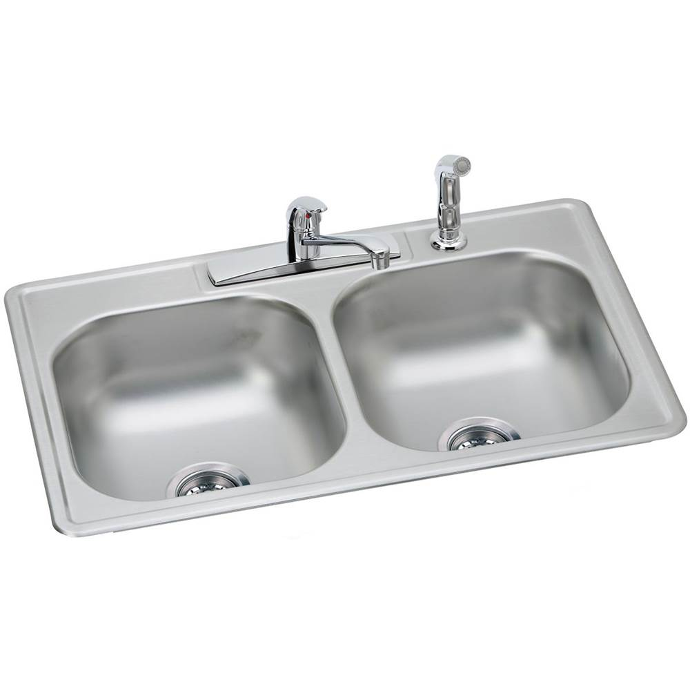 elkay dd233224df at michael wagner and sons drop in kitchen sinks in rh mwsplumbing com Kitchen Sink and Faucet Ideas Discount Kitchen Sinks and Faucets