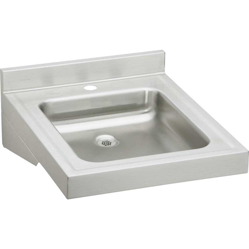 Elkay Wcl1923osd1 Sibilt Stainless Steel 19 X 23 4 Wall Hung Single Bowl Lavatory Sink