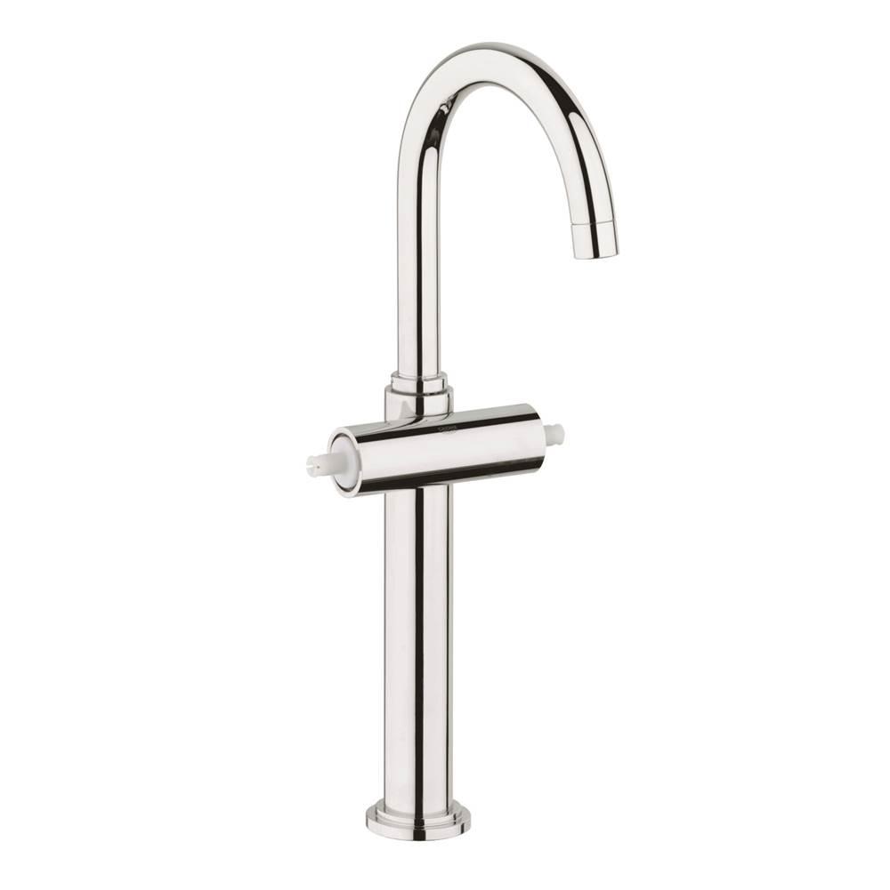 Bathroom Faucet Chrome Swirl Shell Single Hole 2 Handles