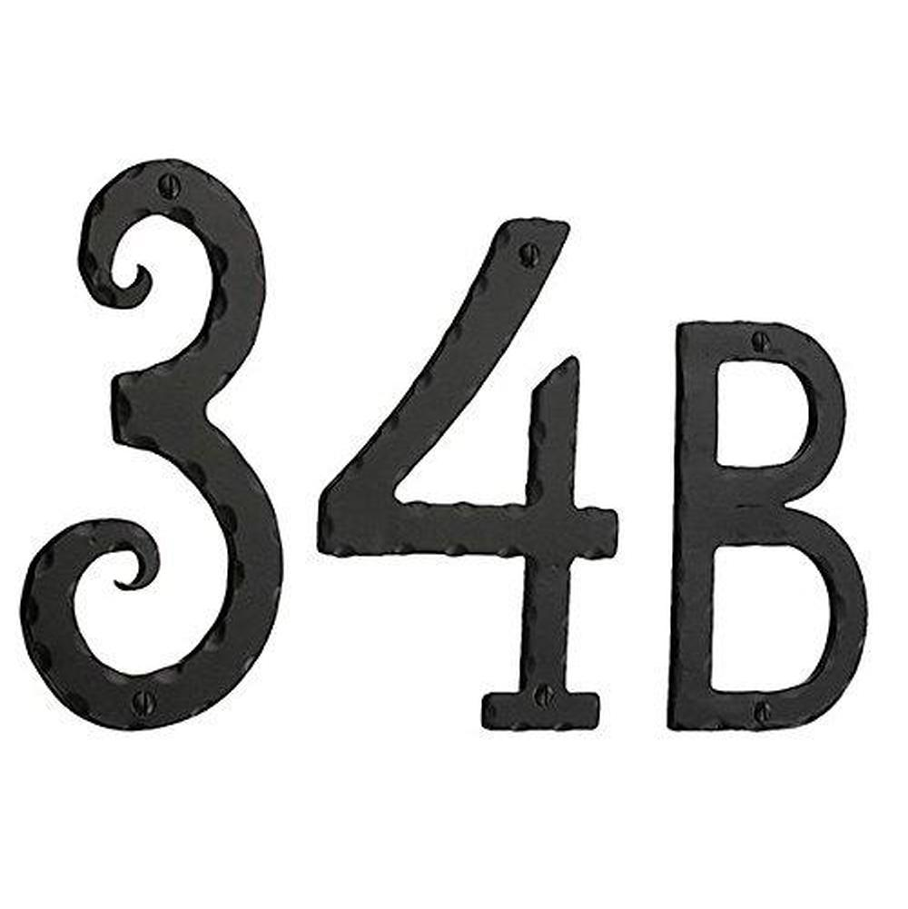 Smedbo S024 House Number 4 Black Wrought Iron